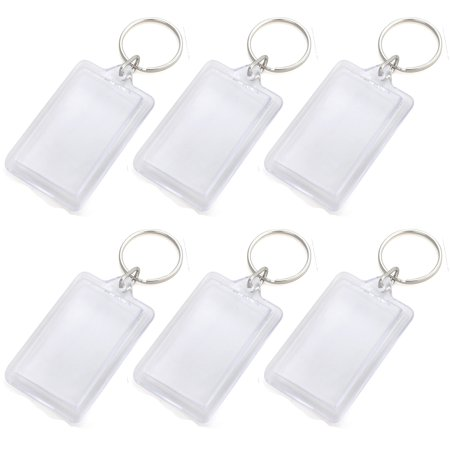 GOGO 25 PCS Acrylic Photo Keychains Custom Personalised Insert Photo Keychain 1-5/16 x 2 Inches, Promotion Gift