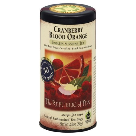 Republic Of Tea Orange Tea (The Republic Of Tea Cranberry Blood Orange Black Tea, 50 Tea Bags, Gourmet)