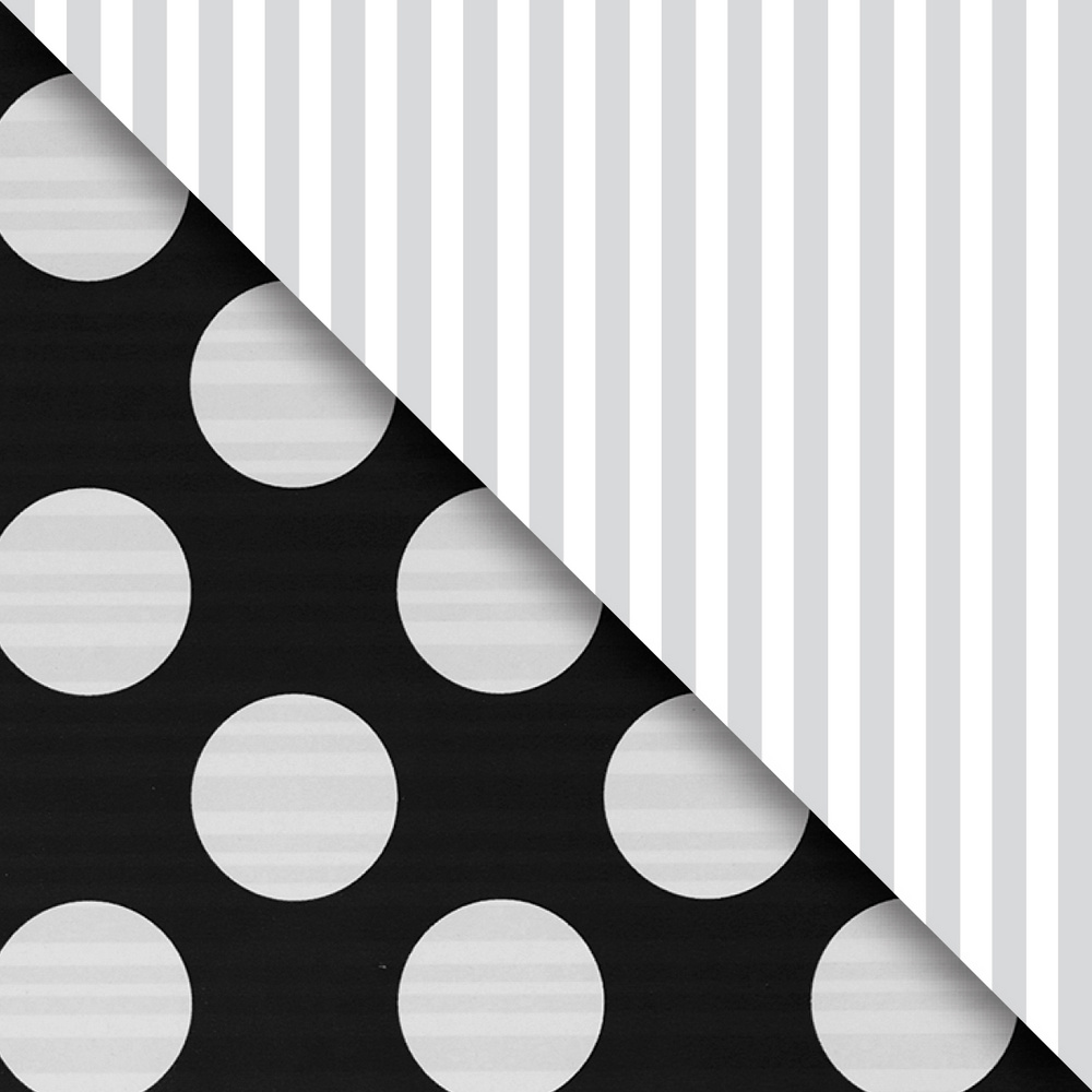 JAM Paper Industrial Size Bulk Wrapping Paper Rolls, Two,Sided Black & Silver, 1/2 Ream (834 Sq Ft), Sold Individually
