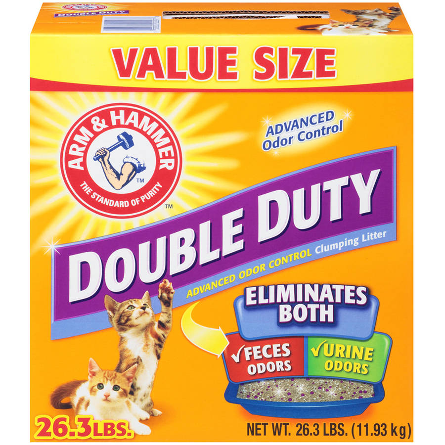 Arm & Hammer Double Duty Advanced Odor Control Clumping Cat Litter 26.3 lb. Box
