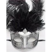 Black Beauty Feather Mask