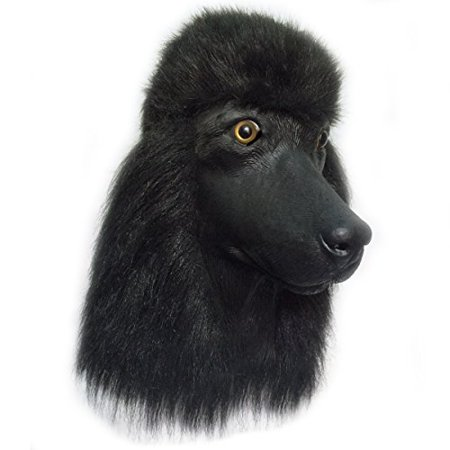 Toy Poodle Dog - Black Standard Poodle Dog Costume Face Mask - Off the Wall Toys Kennel Club