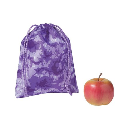 Fun Express - Tie Dye Drawstring Bag Purple 1 pc - Apparel Accessories - Totes - Novelty Backpacks - 1 Piece - Novelty Backpacks