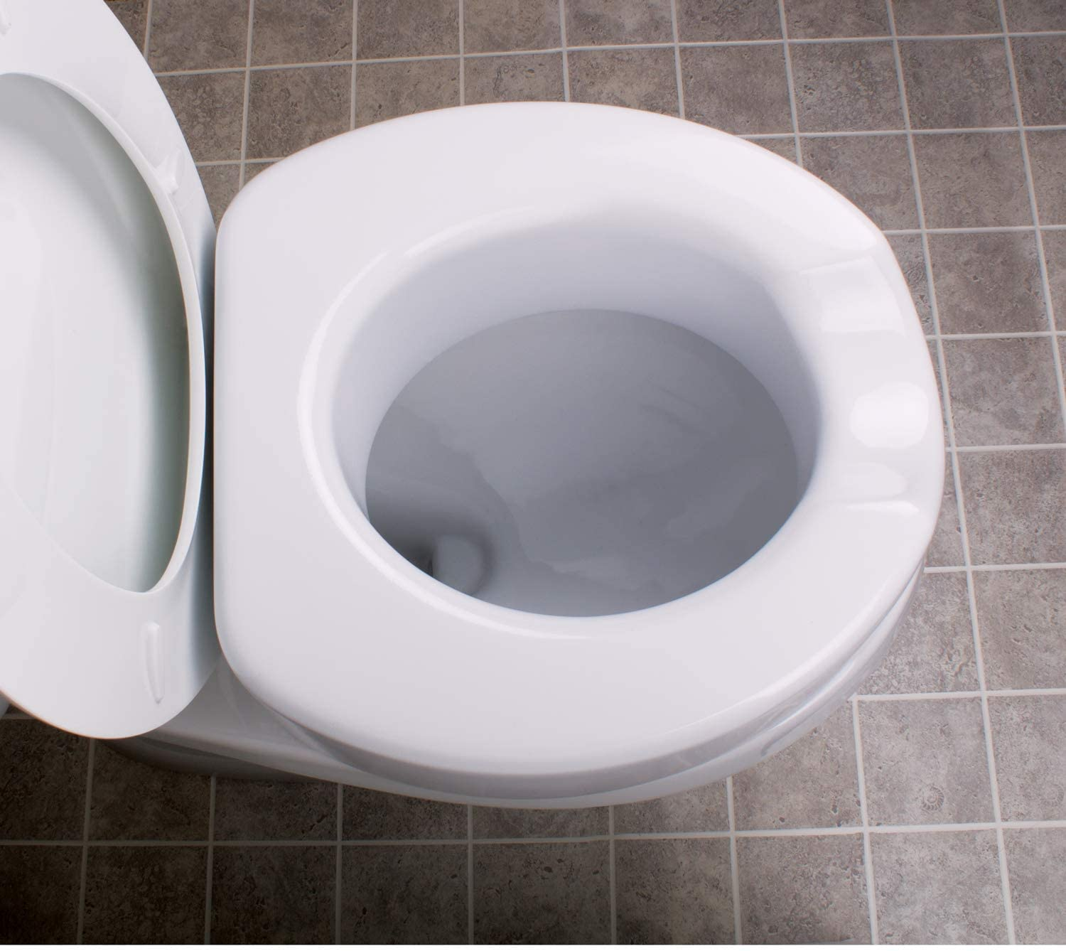 Carex Toilet Seat Riser With Quick Lock Adds 4 Inches Of