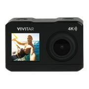 Vivitar DVR922 4k Dual-Screen Action Cam, 16MP WIFI Waterproof Digital Video Camera with Built in Gimbal
