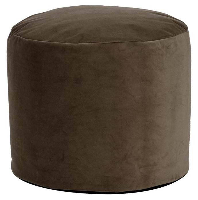 22 in. Tall Pouf in Brown by Howard Elliott Collection
