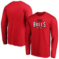 Men's Fanatics Branded Red Chicago Bulls Clamp Down Long Sleeve T-Shirt