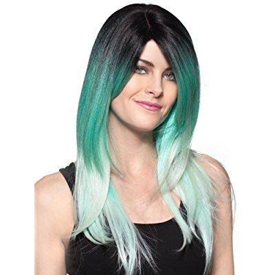 enigma wigs women's yori wig, pastel teal, one size - Teal Wig