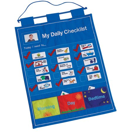 5 Test Charts (My Daily Checklist - Children's Fabric Chore Chart - by One Step Ahead)