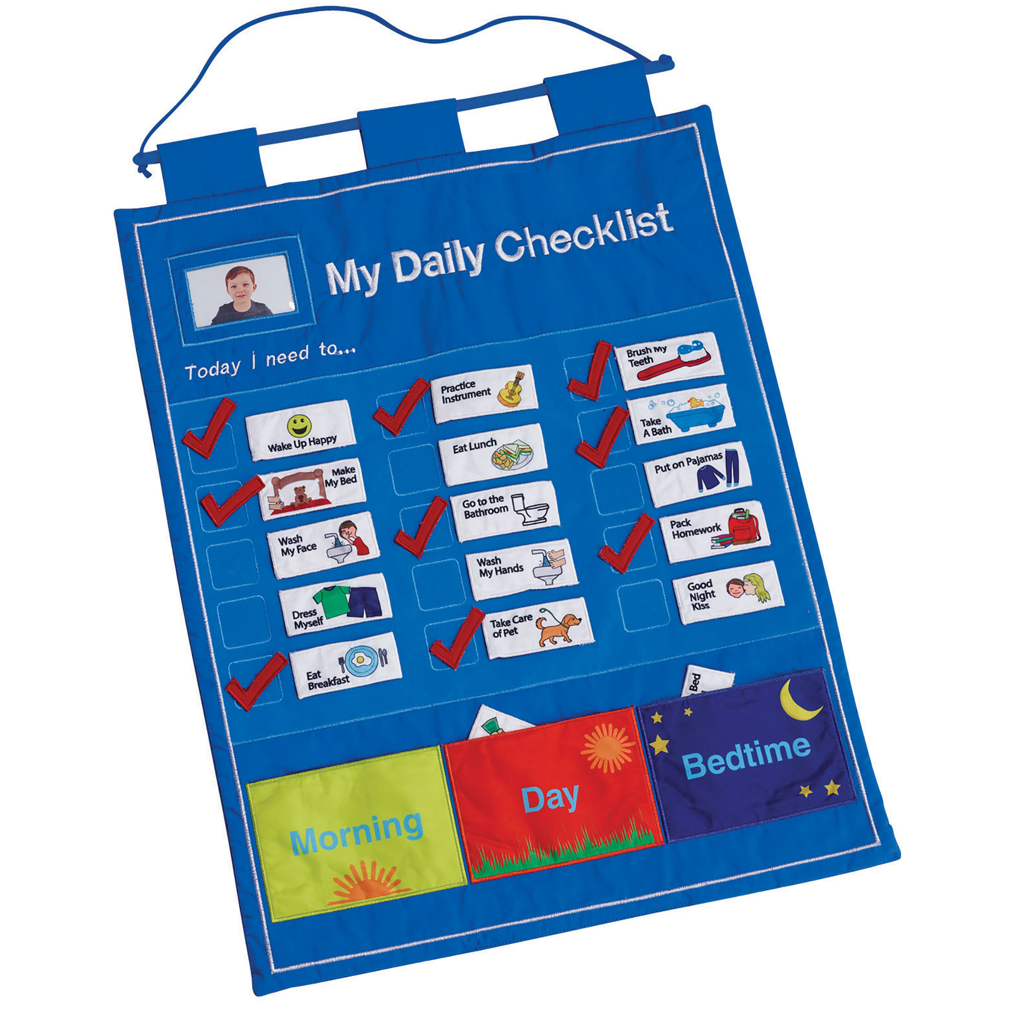 My Daily Checklist - Children's Fabric Chore Chart - by One Step Ahead