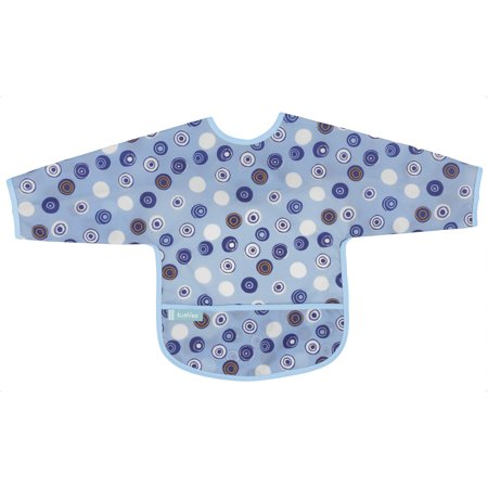 Kushies Cleanbib with Sleeves 12-24M Blue Crazy Circles 2 ()