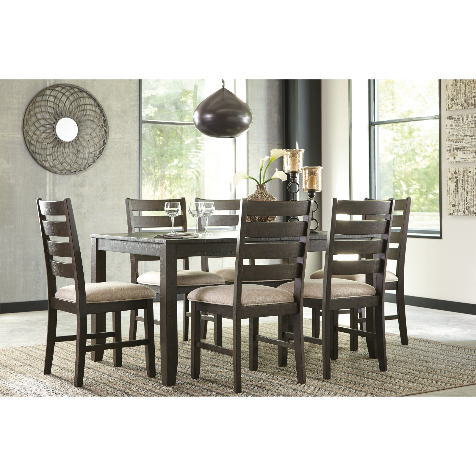 Signature Design by Ashley Rokane 7 Piece Dining Table Set  sc 1 st  Walmart : 7 piece dining table set - pezcame.com