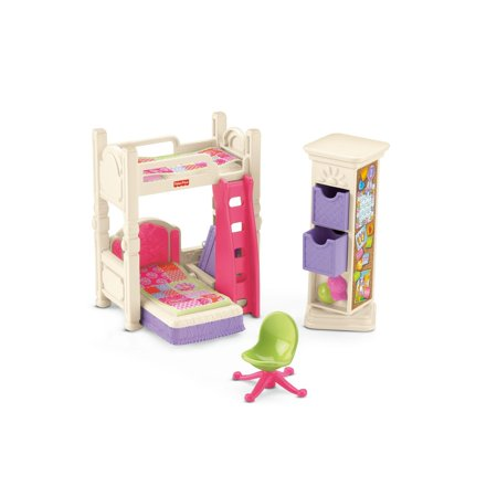 Fisher Price Loving Family Deluxe Kids Bedroom Play Set
