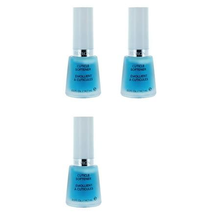 Revlon Cuticle Softener, 0.5 Fluid Ounce (3 Pack) + Makeup Blender Stick, 12 Pcs ()