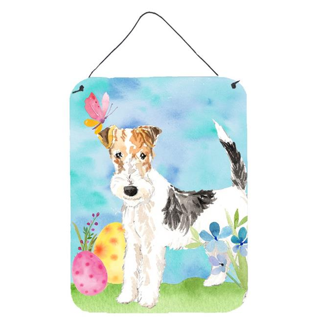 Carolines Treasures Ck1892ds1216 Easter Eggs Fox Terrier Wall Or Door Hanging Prints Walmart Canada
