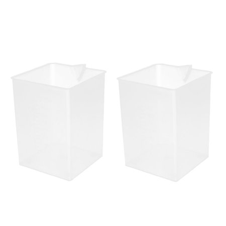 2 Pcs Square 1000ML Plastic Measurement Cup Jug Container Labotary Milk Tea Shop - Halloween Milk Jug Faces