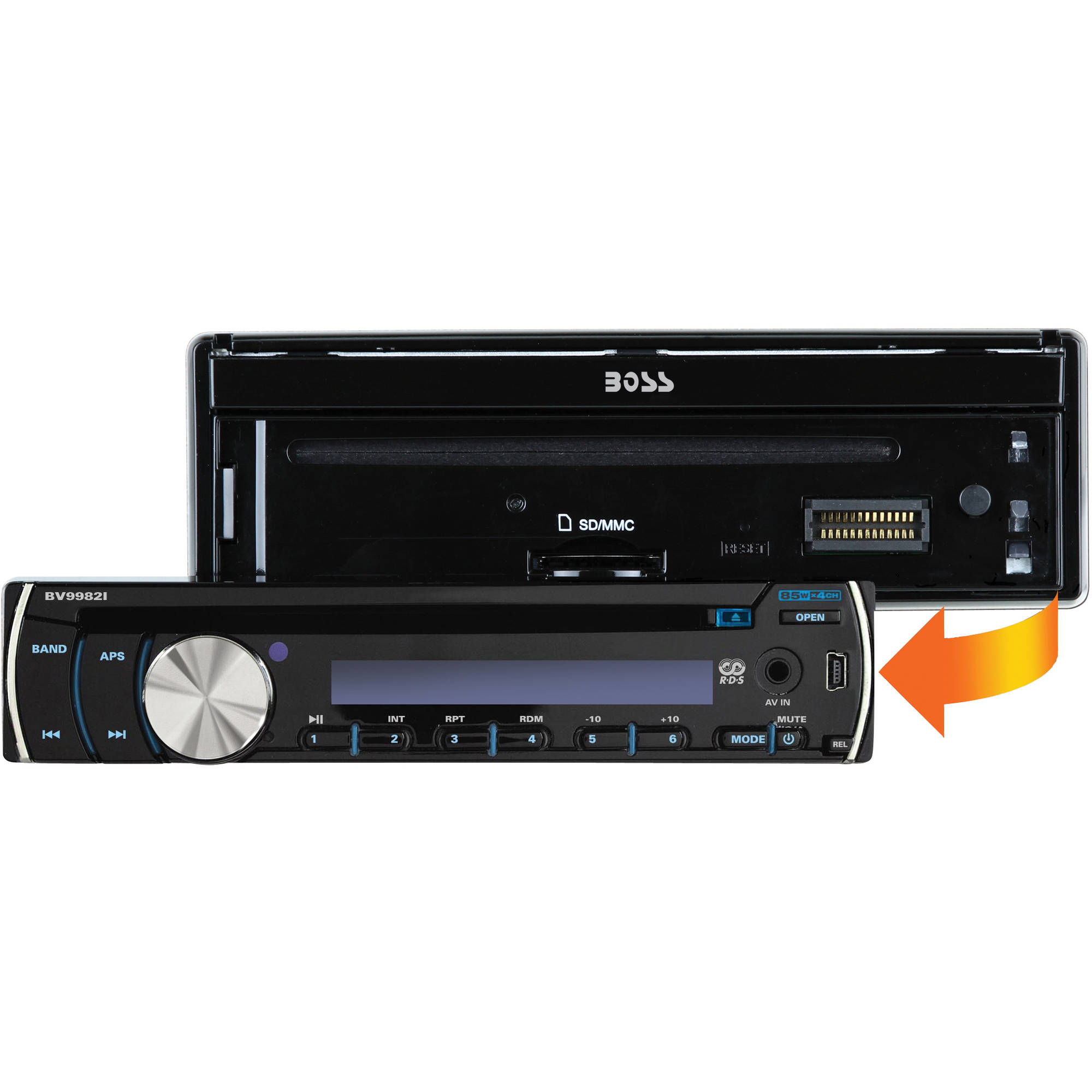 "Boss Audio BV9982i Single-DIN In-Dash DVD/CD Receiver with 7"" LCD"