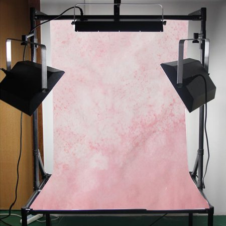 3ftx5ft Vinyl Pink Fuzzy Flowers Photography Background Backdrop Baby Photo Studio Video Props ()