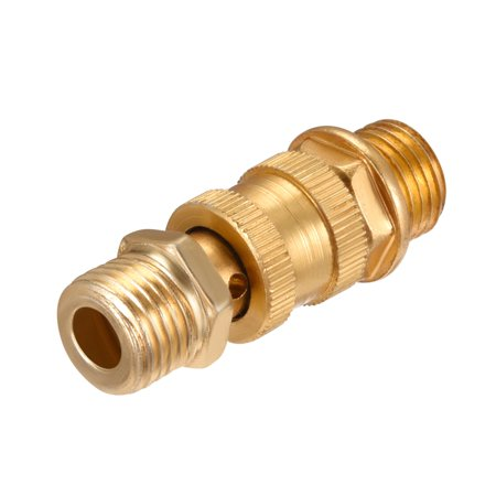 """Air Compressor Accessories 1/4""""PT Male Thread Release Valve Gold Tone - image 2 of 3"""