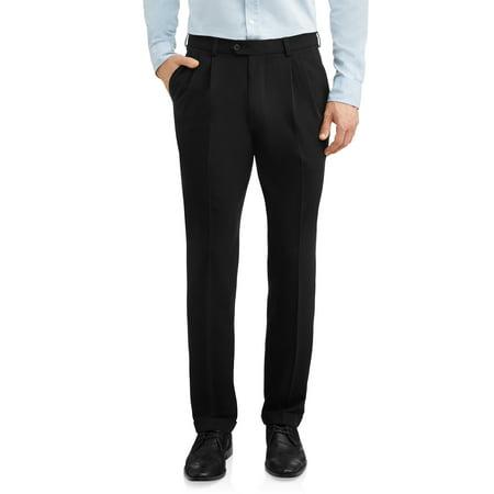 George Men's Premium Comfort Stretch Pleated Cuffed Suit Pant