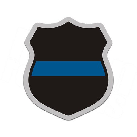 (Officer Badge Shield Thin Blue Line Police Sheriff 4