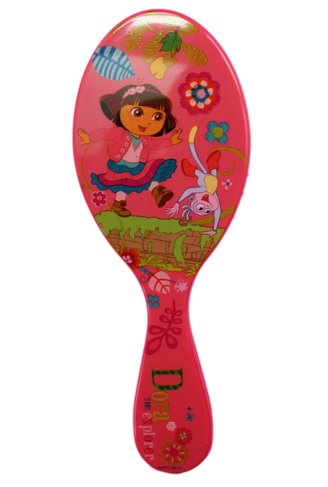 Dora the Explorer Dora and Boots Pink Colored Plastic Hairbrush by