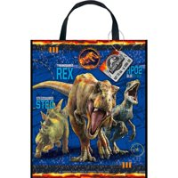 Large Plastic Jurassic World Goodie Bag, 13 x 11 in, 1ct