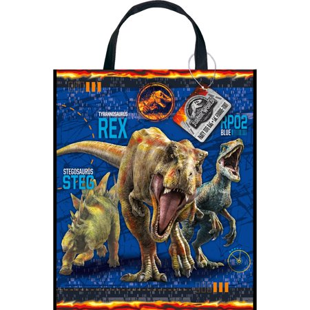 Large Plastic Jurassic World Goodie Bag, 13 x 11 in, 1ct - Thanksgiving Goodie Bags