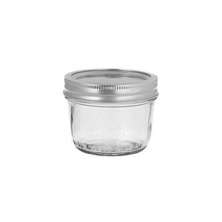 Kerr 00500 Wide Mouth 8 Oz. Glass Mason Jars - 12 / CS