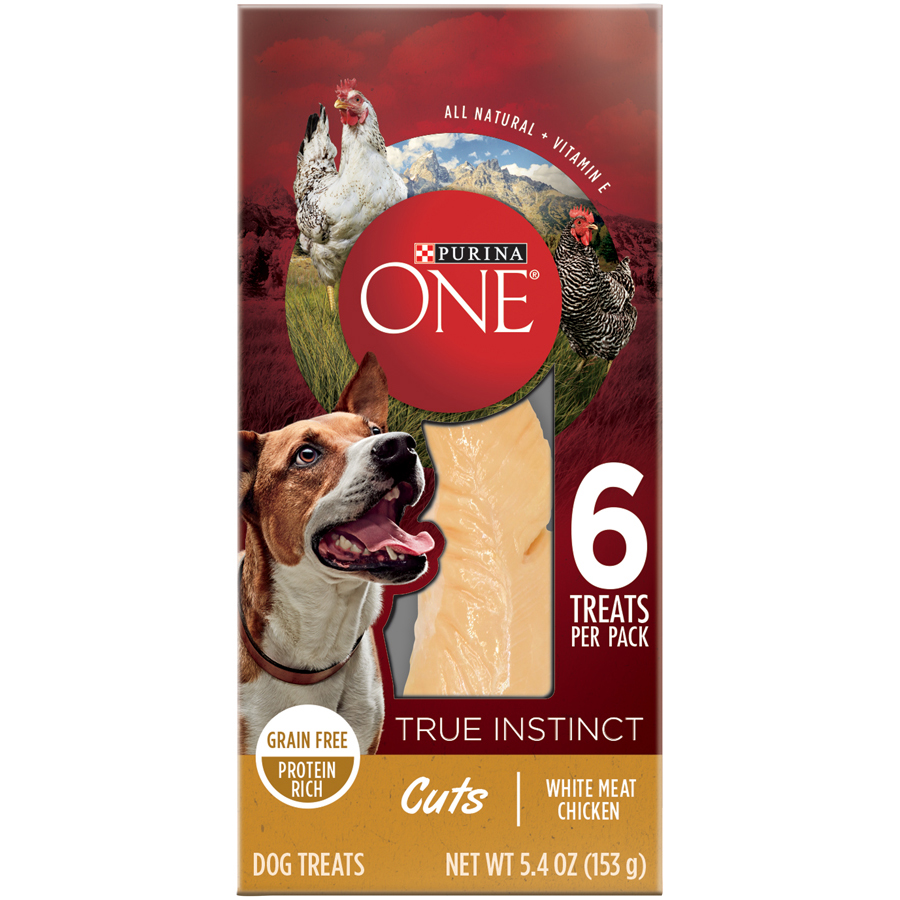 Purina ONE True Instinct Cuts White Meat Chicken Dog Treats 5.4 oz. Box