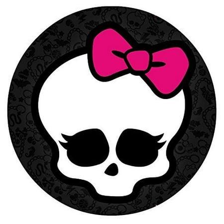 Super Monster High Skull Skullette Logo Edible Image Photo 8 Round Cake Funny Birthday Cards Online Barepcheapnameinfo