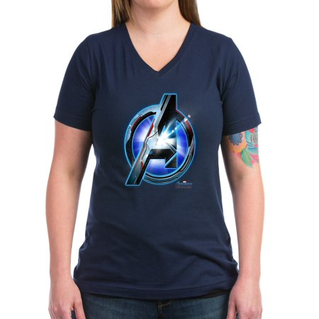 5b5d87ade08 CafePress - CafePress - Avengers Endgame Logo Women's V Neck Dark T Shirt -  Women's V-Neck Dark T-Shirt - Walmart.com