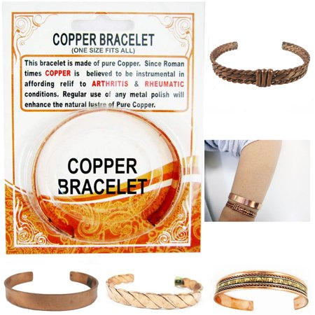 Copper Pain Relief Healing Therapy Arthritis Cuff Bracelet Bangle Women (Wrapped Copper Bracelet)