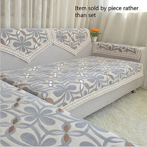 Octorose Chenille Lace Sectional Sofa Throw Covers Furniture