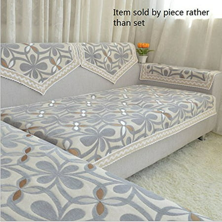 Octorose Chenille Lace Sectional Sofa Throw Covers Furniture Protector Sold By Piece Rather Than Set
