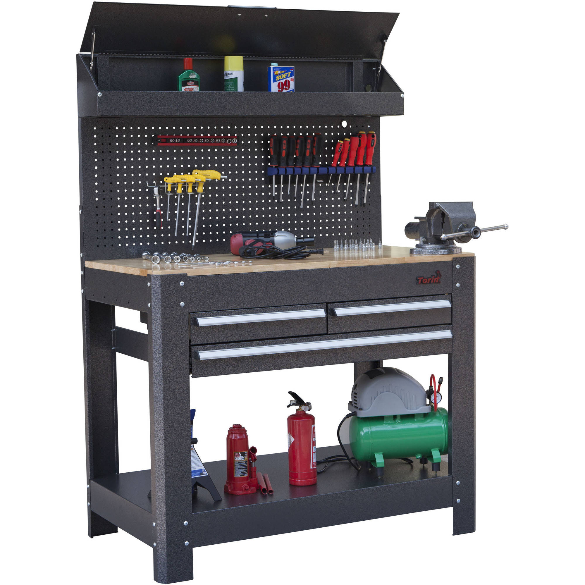 "Torin 45"" 3-Drawer Workbench"