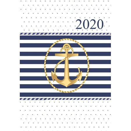 2020 : Wochenplaner mit Monatsübersicht - 1 Woche auf 2 Seiten zum planen, notieren und organisieren - Terminplaner mit Kalendarium 2020 - Maritim Anker Gold - Ladytimer (Paperback)