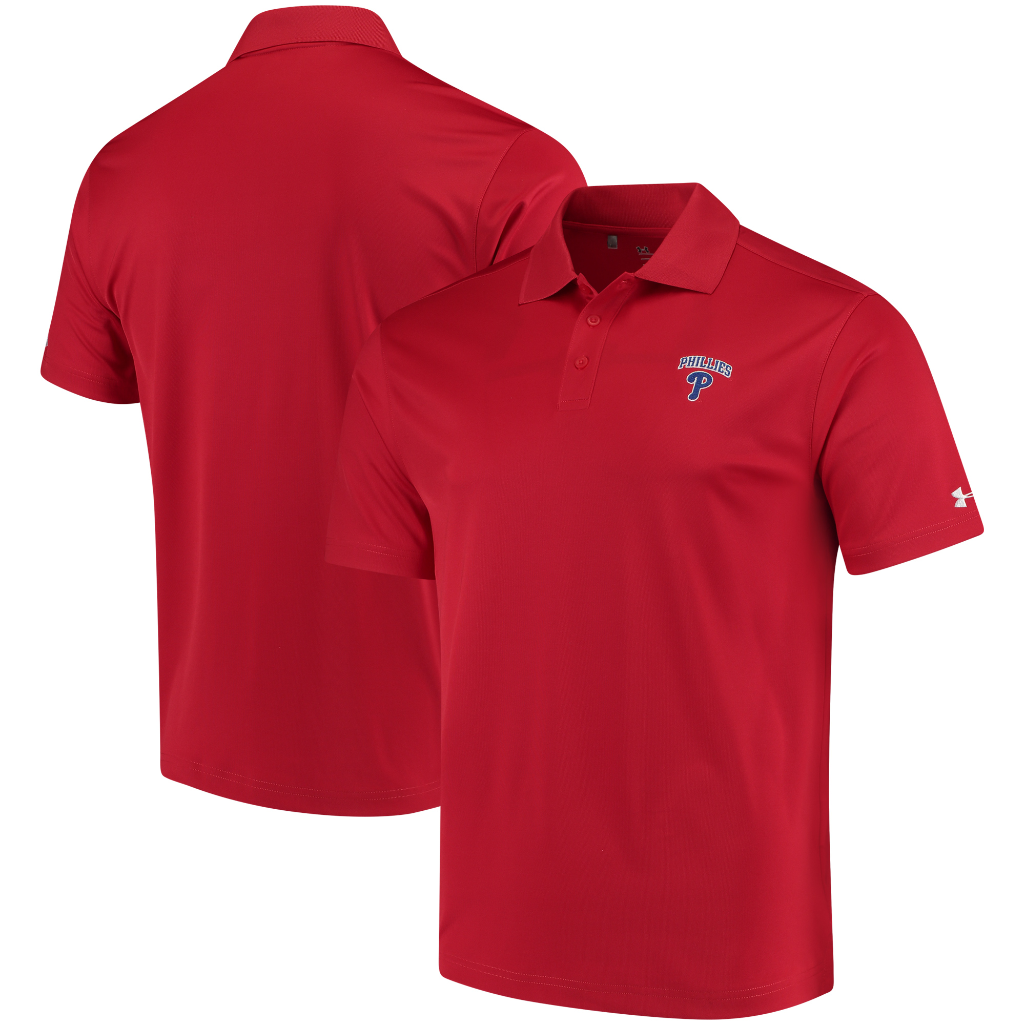 Philadelphia Phillies Under Armour Performance Polo - Red