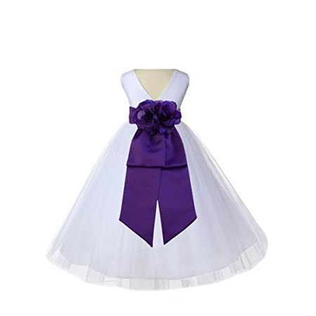 e7ce2d15cfb Ekidsbridal White V-Neck Tulle Flower Girl Dress Wedding Tulle Dresses  First Communion Dress Holy