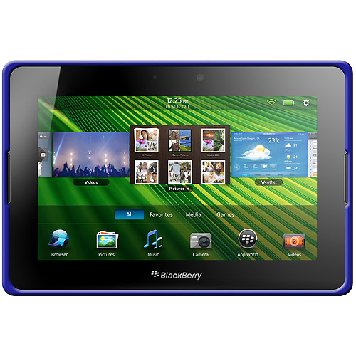 BlackBerry PlayBook Case, Rugged Silicone Skin Jelly Slim Protective Heavy Duty Shockproof Case for BlackBerry PlayBook - Blue