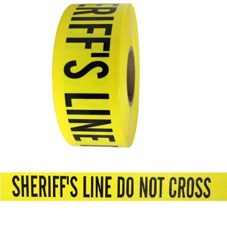 Do Not Cross Tape (Barricade Tape - Sheriffs Line Do Not Cross - Yellow 3