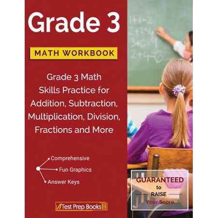Grade 3 Math Workbook : Grade 3 Math Skills Practice for Addition, Subtraction, Multiplication, Division, Fractions and - Halloween Math Fractions