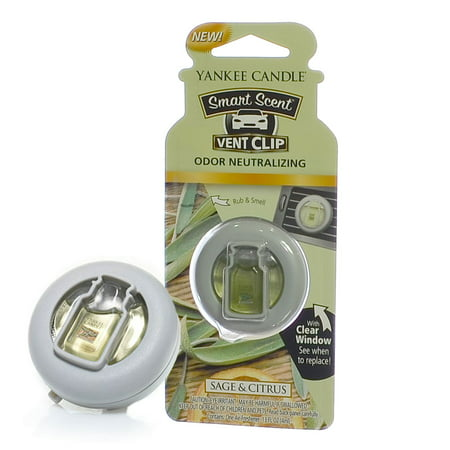 Yankee Candle Smart Scent Vent Clip Car & Home AC Air Freshener, Sage & Citrus