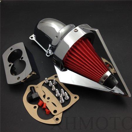 HTT-MOTOR Triangle Spike Air Cleaner Filter For 2002-2009 Kawasaki Vulcan  1500 1600 Mean Streak Chr