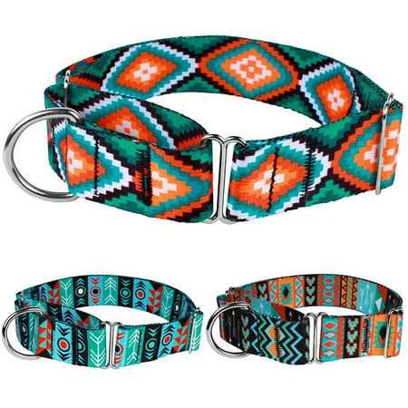 CollarDirect Martingale Dog Collar Adjustable Heavy Duty Nylon Collars for Dogs Medium Large Tribal Design, Pattern 3