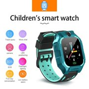 Kids Smart Watches Children Waterproof GPS Fitness Tracker Anti-Lost SOS Learning Toy for Boys Girls Gift - Green