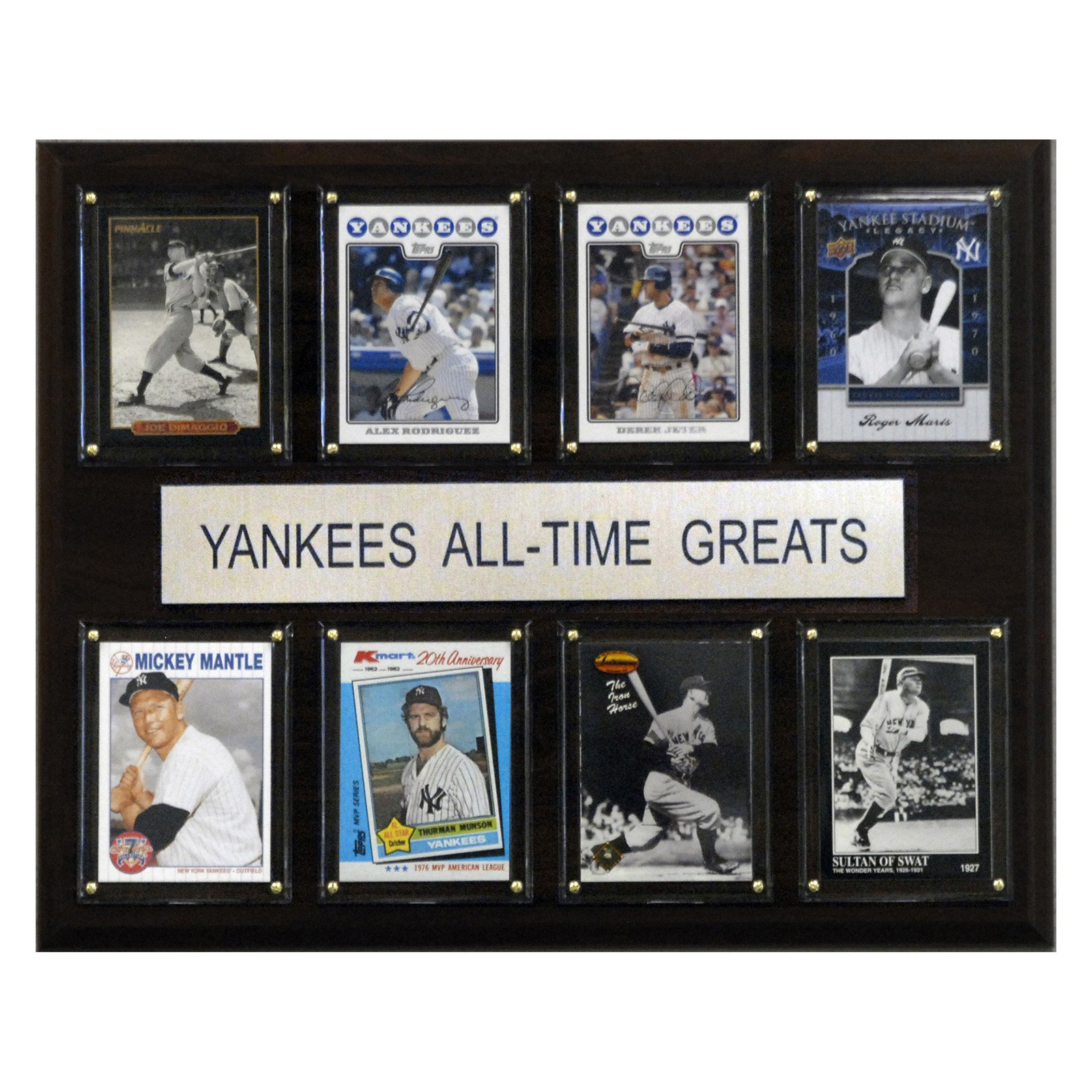 C&I Collectables MLB 12x15 New York Yankees All-Time Greats Plaque