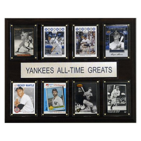 C&I Collectables MLB 12x15 New York Yankees All-Time Greats Plaque Baseball Hall Of Fame Plaque