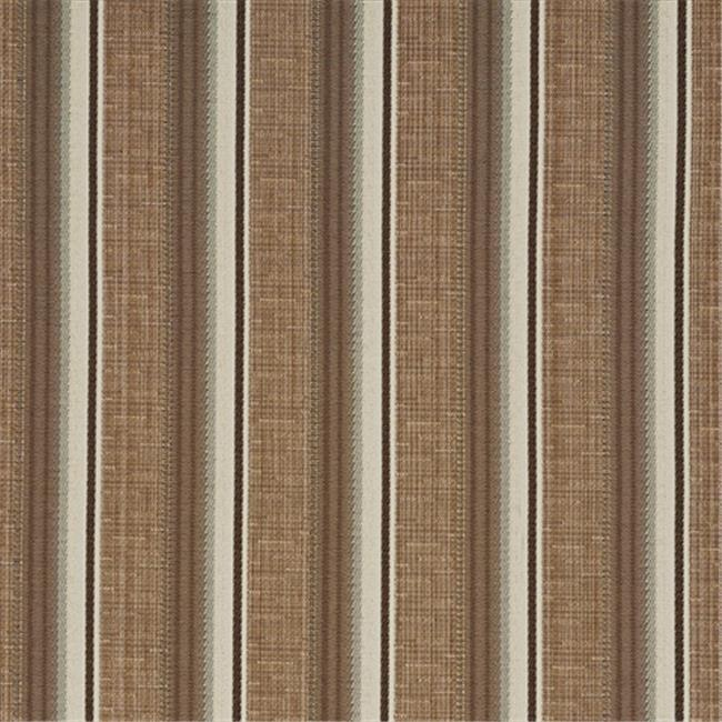 Designer Fabrics A367 54 in. Wide Brown And Ivory Striped Tweed Textured Metallic Upholstery Fabric