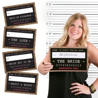 Girls Night Out Party Mug Shots - Bachelorette Party Photo Booth Props Party Mug Shots - 20 Count